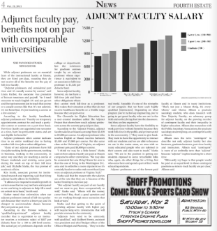 Adjunct Pay. Fourth Estate. Oct 28 2013