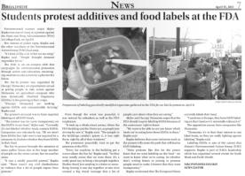 FDA Protest. Broadside. April 15 2013