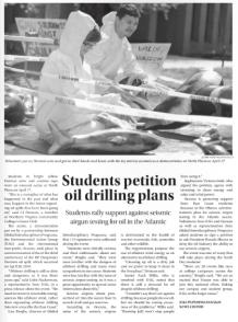 Oil Drilling Petition. Broadside. April 22 2013