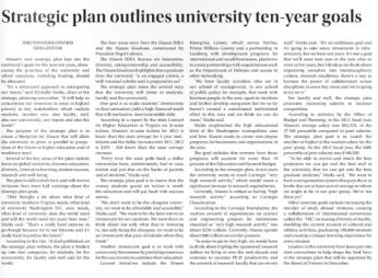Strategic Plan. Fourth Estate. Oct 28 2013